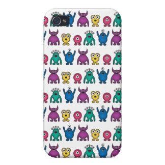Kawaii Rainbow Alien Monsters Pattern iPhone 4 Case