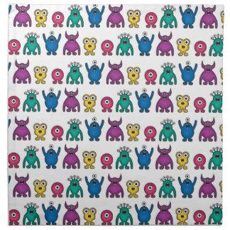 Kawaii Rainbow Alien Monsters Pattern Napkin