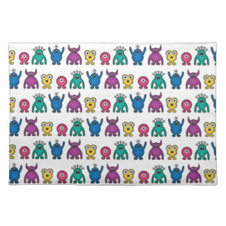 Kawaii Rainbow Alien Monsters Pattern Placemat