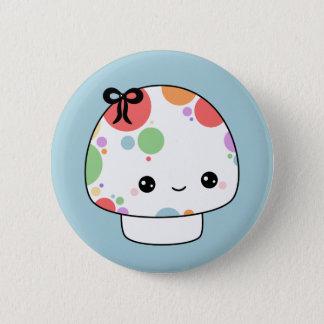 Kawaii Rainbow Mushroom 6 Cm Round Badge