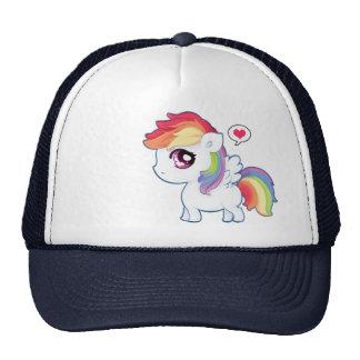Kawaii rainbow pony cap