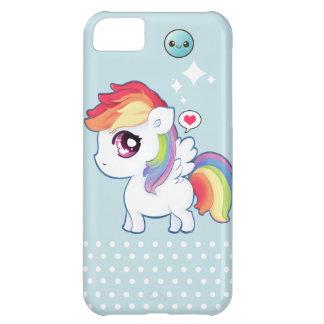 Kawaii rainbow pony cover for iPhone 5C