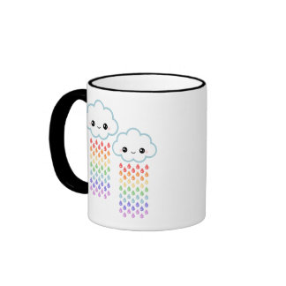 Kawaii Rainbow Rain Ringer Mug