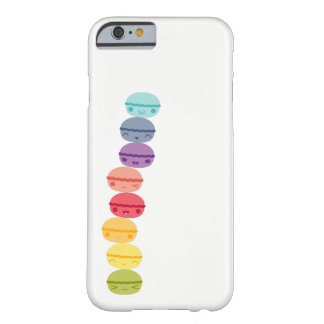 Kawaii Rainbow stacked Macarons Barely There iPhone 6 Case