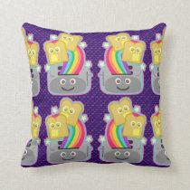 Kawaii Rainbow Toast Pattern Cushion