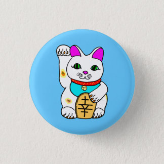 Kawaii Rave Lucky Cat Maneki Neko 3 Cm Round Badge