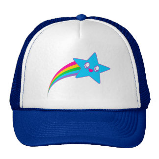Kawaii Rave Neon Star Rainbow Cap
