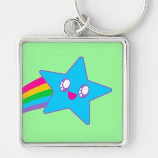 Kawaii Rave Neon Star Rainbow Keychains