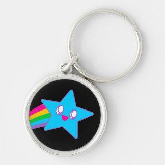Kawaii Rave Neon Star Rainbow Key Chains