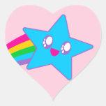 Kawaii Rave Neon Star Rainbow Sticker
