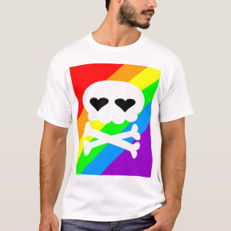 Kawaii Rave Skull Rainbow T-Shirt