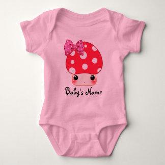 Kawaii red mushroom infant creeper