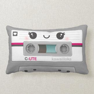 Kawaii Retro Tape Cassette Lumbar Cushion