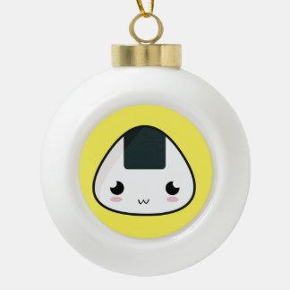 Kawaii Rice ball Ceramic Ball Christmas Ornament
