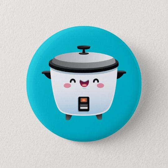 Kawaii Rice Cooker 6 Cm Round Badge