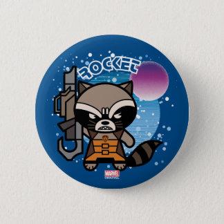 Kawaii Rocket Raccoon In Space 6 Cm Round Badge