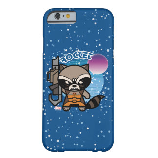 Kawaii Rocket Raccoon In Space Barely There iPhone 6 Case