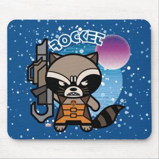 Kawaii Rocket Raccoon In Space Mouse Mat
