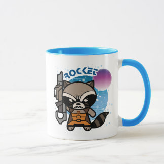 Kawaii Rocket Raccoon In Space Mug