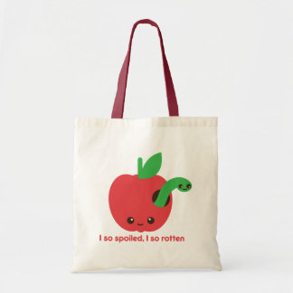 Kawaii Rotten Apple Tote Bag