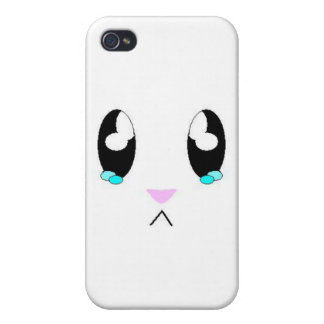 Kawaii Sad Bunny Face Covers For iPhone 4