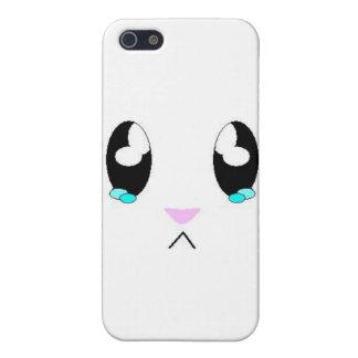 Kawaii Sad Bunny Face iPhone 5/5S Cases