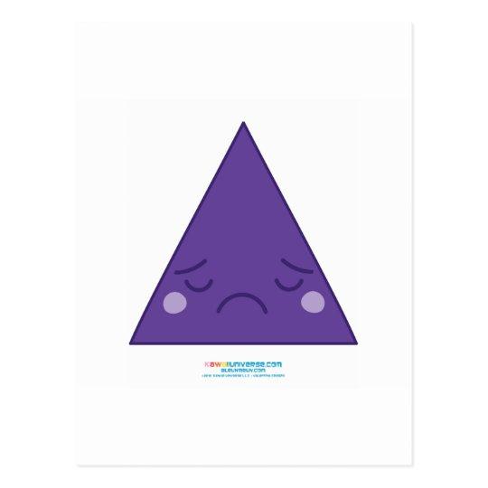 Kawaii Sad Triangle Postcard