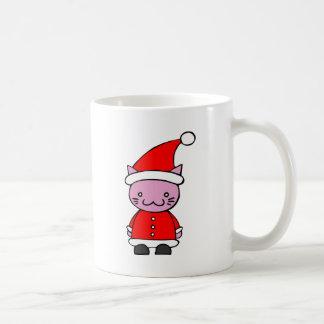 Kawaii Santa Cat Coffee Mugs