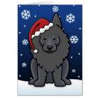 Kawaii Schipperke Christmas Card
