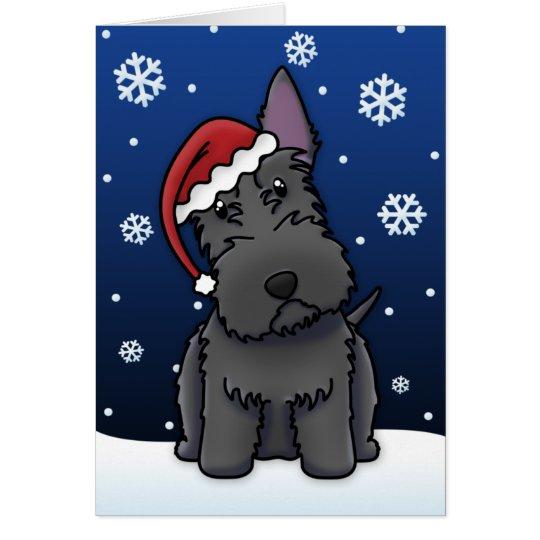 Kawaii Scottie Christmas Card