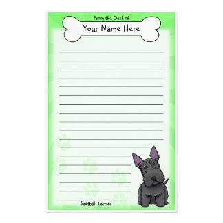 Kawaii Scottish Terrier Stationery