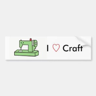 Kawaii Sewing Machine Bumper Sticker