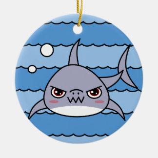 Kawaii Shark Round Ceramic Decoration