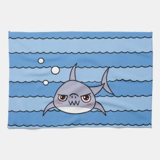 Kawaii Shark Tea Towel