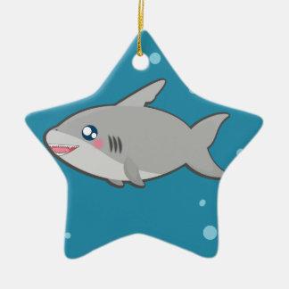 Kawaii sharky ornament