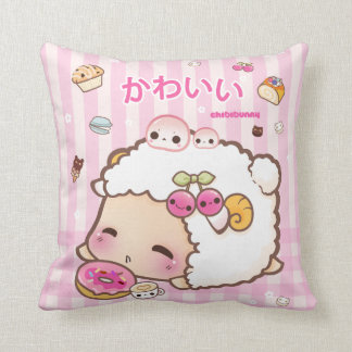 Kawaii sheep and cute donut cushion