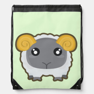 Kawaii Sheep Drawstring Bag