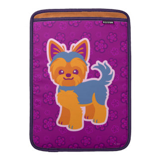 Kawaii Short Hair Yorkie Cartoon Dog MacBook Sleeves