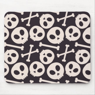 Kawaii Skull Halloween Creepy Cute Spooky Mousepad