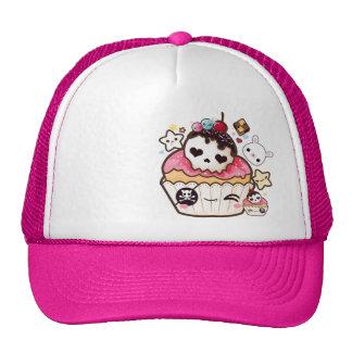 Kawaii skull pirate cupcake cap