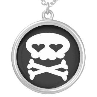 Kawaii Skull Sterling Silver Necklace