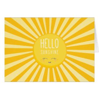 KAWAII SKY bright bold yellow smiling sun sunshine Greeting Cards