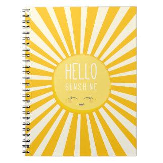 KAWAII SKY bright bold yellow smiling sun sunshine Notebooks