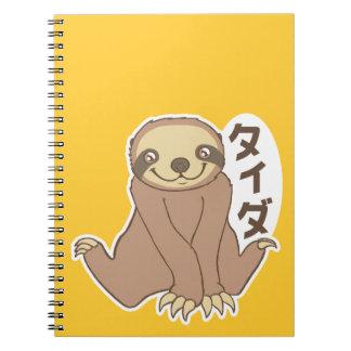 Kawaii Sloth Notebook