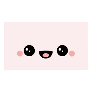 Kawaii Smiley Double-Sided Standard Business Cards (Pack Of 100)