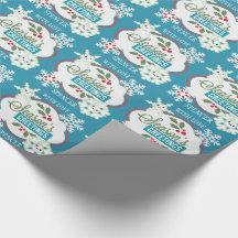 Kawaii Snowflakes Holiday Christmas Wrapping Paper