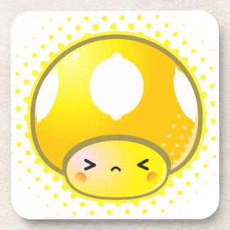 Kawaii Sour Lemon Mushroom Coaster