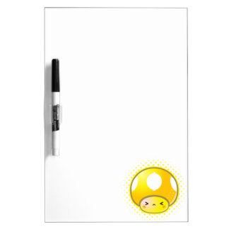 Kawaii Sour Lemon Mushroom Dry-Erase Whiteboard