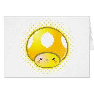 Kawaii Sour Lemon Mushroom Greeting Card