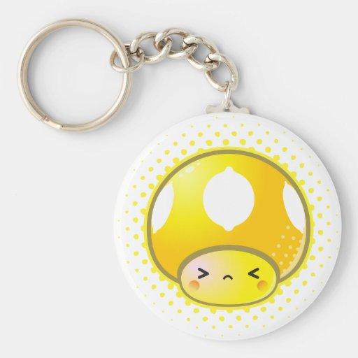 Kawaii Sour Lemon Mushroom Key Chains